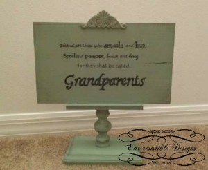 Grandparents Pedestal Sign