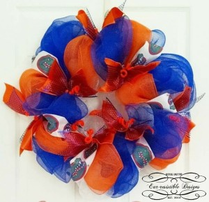 FL Gators Mesh Wreath